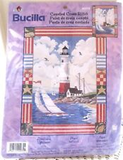 Bucilla AMERICANA LIGHTHOUSE Counted Cross Stitch Kit  #42975 New Factory Sealed