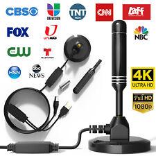 TV Antenna Digital HDTV Amplified 300 Mile Range Indoor Outdoor w/Magnetic Base