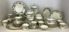 MINTON ROYAL DOULTON Porcelain Newer PERSIAN ROSE Service for 12 + Extras 61 pcs