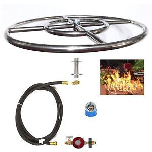 """FR36CK: BASIC PROPANE DIY GAS FIRE PIT KIT & 36"""" LIFETIME WARRANTED 316 BURNER"""