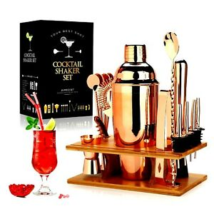 GOLD professional Cocktail Shaker Making Set 16pcs Bartender Kit Stainless Steel
