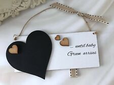 Personalised New Baby Countdown Chalkboard Plaque Gift Pregnancy Baby Shower P76