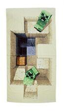 Minecraft derrota Diseño toalla Algodón beige 140 X 70 X 2 cm