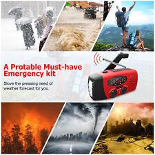 Emergency Survival Solar Hand Crank Weather Radio 300mAh LED Flash Light