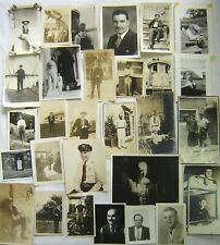 Lot of 29 photos of MEN --  early 1900s - 1940s