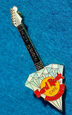 ANTWERP BELGIUM WHITE HEADSTOCK BLUE DIAMOND STONE GUITAR Hard Rock Cafe PIN