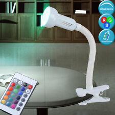 RGB LED Pinza Lámpara Regulable Trabajo Habitación Control Remoto Flexo Leer