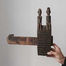 Antique Senufo/Bamana door lock with human figures