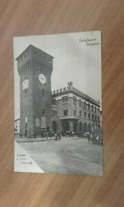 Castelnuovo Rangone (Mo)-Palazzo e Torre Comunale-1939 b/n viaggiata e animata
