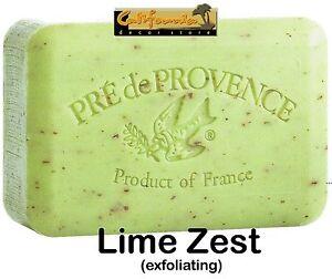 Pre de Provence LIME ZEST 250 Gram French Soap Bath Shower Bar Shea Butter