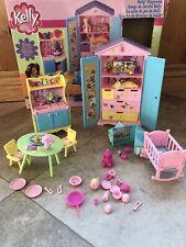 HTF Mattel Kelly Barbie Playroom Playset #88704~ 2002 Near Complete W/orig Box
