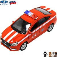 Diecast Vehicles Scale 1:36 Lada Vesta Russian Fire Department Toy Cars