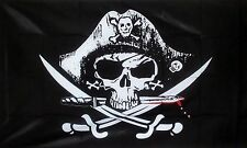 CROSSED SABRES PIRATE FLAG 3 X 2 FEET FLAG Pirates jolly roger