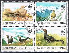 WWF  1994 Aserbaidschan 161/64 Viererblock  Vögel
