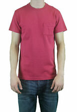 STEVEN ALAN Men's Dark Red Short Sleeve Pocket T-Shirt MCS25CT NWT $58