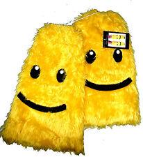 Go Go Amarillo Smiley Imitación Furry Legwarmers bota cubiertas Rave LEG AVENUE CALENTADORES