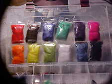 Galaxy fly tying dubbing 12 colors 2x3'' bags