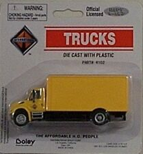 Boley HO 1/87 Die Cast International 4300 Drywall Van Yellow Delivery Truck 4102