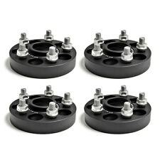 "4 Forged Black Wheel Spacers 25mm 1"" Fits Chevrolet Cruze LS LT Petrol 2008-2019"