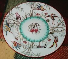 Antique Minton Porcelain Plate Flying Cranes & Bamboo Marked