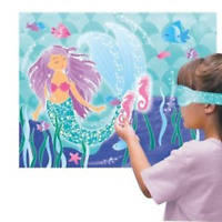 Mermaid Birthday Party Game - Pin the Seahorse