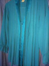 New York City Design Co. Blue Sheer Ladies Sz M Front Pleat BuUp Sale $6.99!!