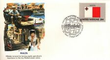 UN 1981 Flag Series -  Malta FDC with Fleetwood cachet