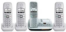 QUATTRO SET Siemens Gigaset E500A senioren DECT Telefon ECO mit E310H Mobilteil