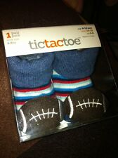 Football Baby Boy Bootie Socks 6-12 Months Stuffed Footballs On Toes Tictactoes