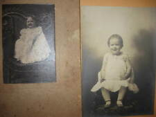 2  OLD B&W PHOTO's infants children photographs photos black & white VINTAGE