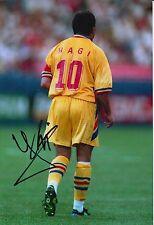 ROMANIA HAND SIGNED GHEORGHE HAGI 12X8 PHOTO.