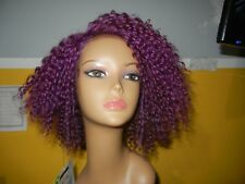 Janet Collection Deep Part synthetic futura curly purple lace Front Plum Red