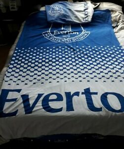 Everton single bedding quilt cover and pillowcase cover
