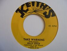 """New ListingBilly Dyce Take Warning Keith'S Roots Reggae 7"""" Hear"""