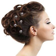 5 Haarnadeln Blume Schleife Hut Straß anthrazit grau Tiara Diadem Haarschmuck