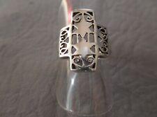Bague en Acier Inox Étoile de David Massif Gothique Biker Argent Hexagramme