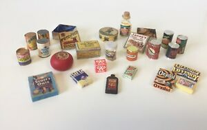 LARGE BUNDLE FOOD PANTRY CONTENTS PACKAGING GROCERIES LOT DOLLS HOUSE DOLLHOUSE