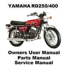 YAMAHA RD400 RD250 RD - Owners Workshop Service Repair Parts Manual PDF on CD-R