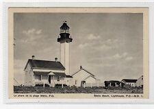 METIS BEACH LIGHTHOUSE: Quebec Canada postcard (C2148).