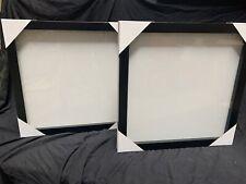 25x25 Shadow Box Black Frame Set of 2