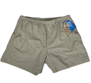 "NWT Columbia PFG Backcast Water Beige Tan 6"" Omni-Shade Shorts Trunks 2XL"