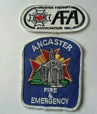 TWO FIRE BRIGADE CLOTH PATCHES
