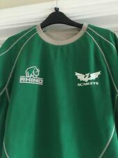 Mens Large Scarlets Rhino rugby Shirt