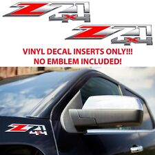 Red Hot Z71 Fender Emblems Vinyl Decal Inlays For 2014-2018 Chevy Silverado New