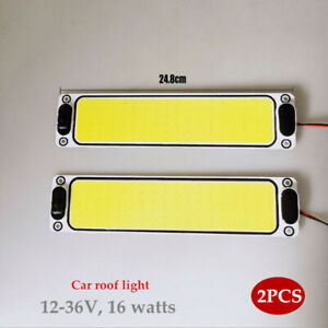 Pair Truck 12V 24V Cab Reading Light Highlight LED Roof Light  Waterproof Kit