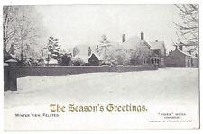FELSTED Winter View, Essex, Old Postcard by FT Norris, Unused