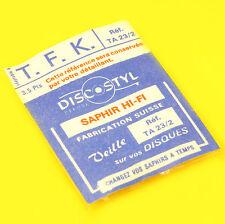 SAPHIR POUR TETE DE LECTURE CELLULE TOURNE DISQUE VINTAGE TFK TA23/2 DISCOSTYL