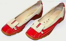 LINEA STRETCH by Walter Genuin 'Fran' Womens Golf Shoes Red & Beige Italy 9