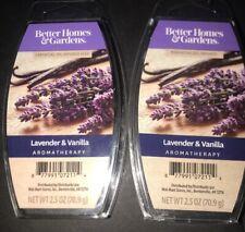 2  BETTER HOMES & GARDENS Aromatherapy Wax Melts LAVENDER & VANILLA 2.5 Oz Each
