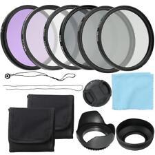 Professional 52mm CPL+UV+FLD Lens Filters Hood Cap Kit ND2 4 8 Set For DSLR Cam